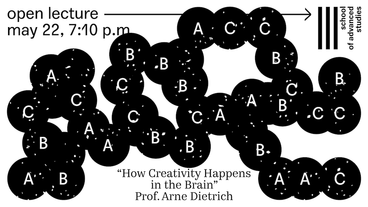 "Open lecture by Prof. Arne Dietrich ""How Creativity Happens in the Brain"""